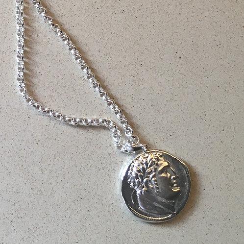925/1000 Sterling Silver Judas Pendant Herakles / Eagle Jesus Christ