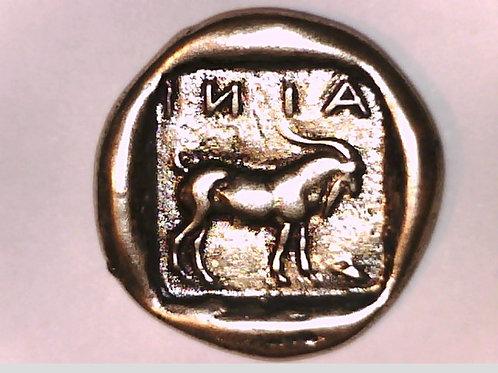 THRACE, Ainos, Tetradrachm coin. Hermes / Goat