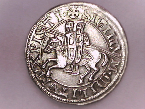 Silver Masonic Medal with two Knights on Horse.
