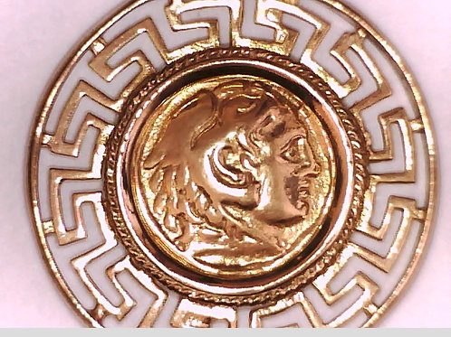 24K Gold plated Silver Pendant Alexander The Great
