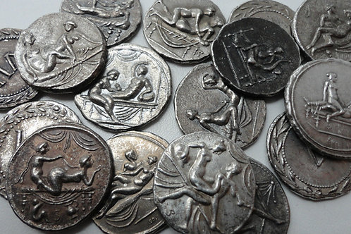 Lot of 16 Roman Spintriae Erotic Tokens