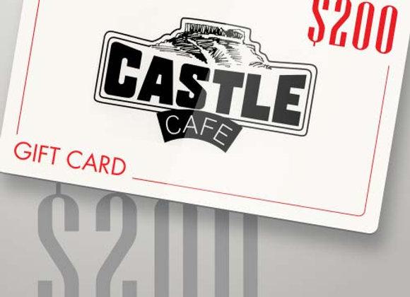 Castle Café - $200 GIFT CARD