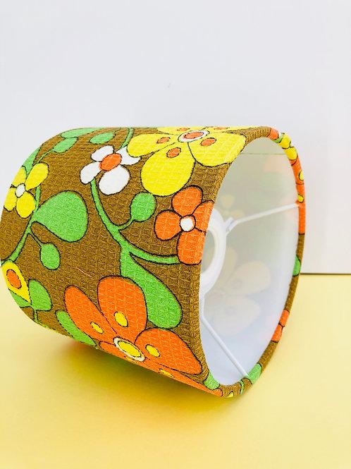 70s Fabric Lampshade 15cm
