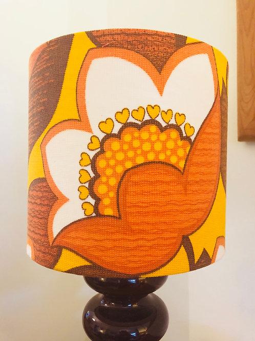 70's Fabric Lampshade 20cm