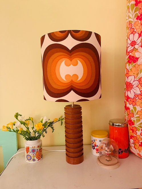 Retro Teak Lamp & Retro Shade