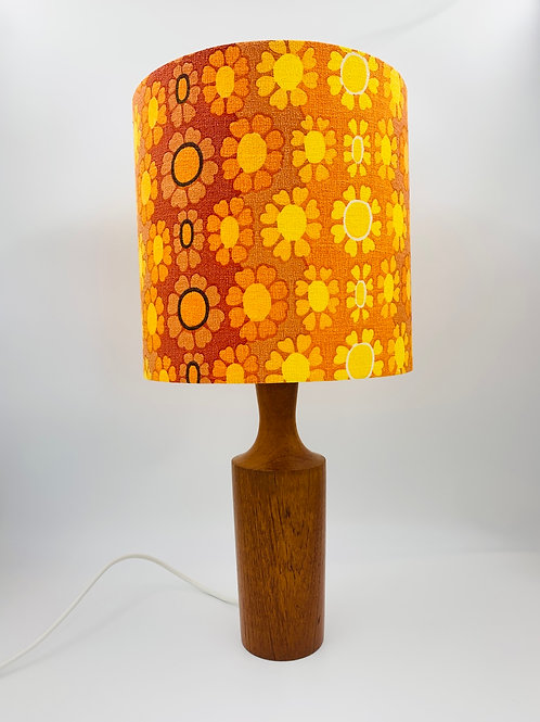 Vintage Teak Lamp & Shade