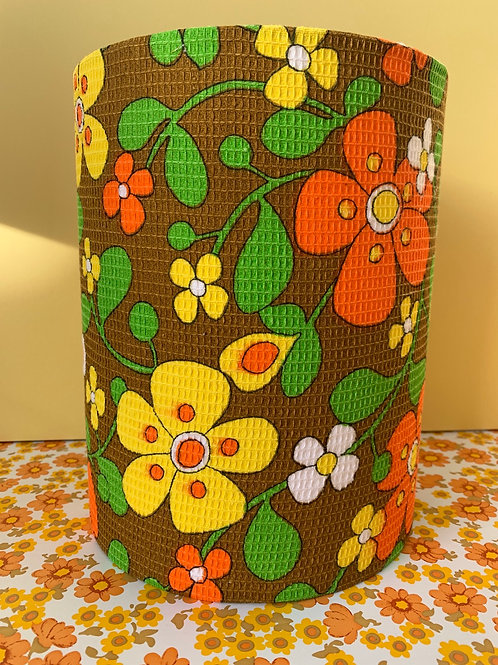 70s Fabric Lampshade