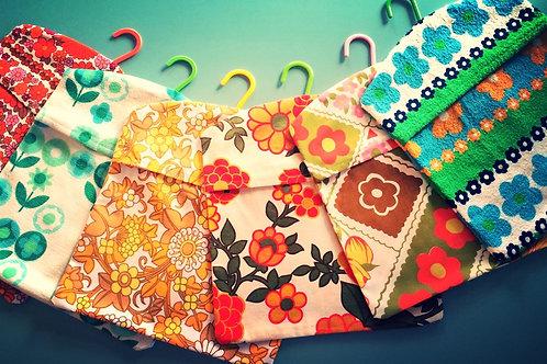 Vintage Fabric Peg Bags