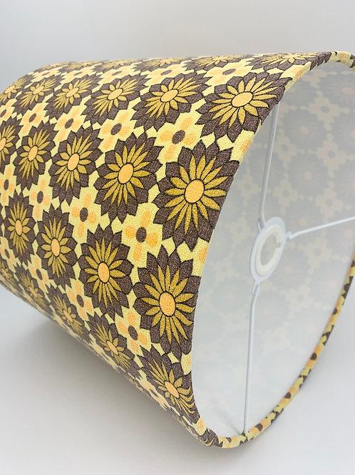 Vintage Barkcloth Lampshade