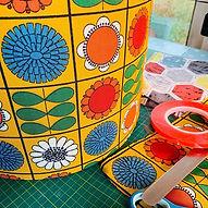 Vintage Fabric Lampshades