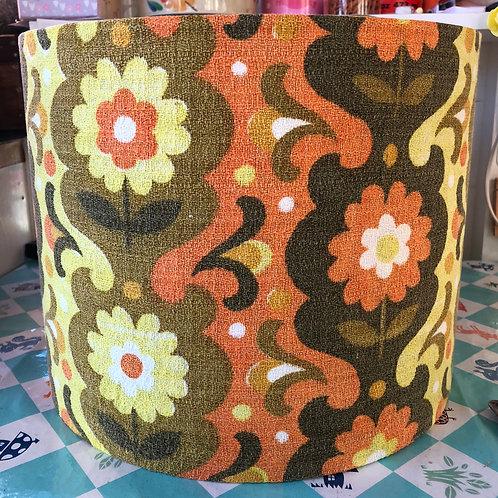 Vintage Barkcloth covered shade 30cm