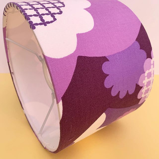 💜 LOVING this 60s fabric shade 20cm 💜