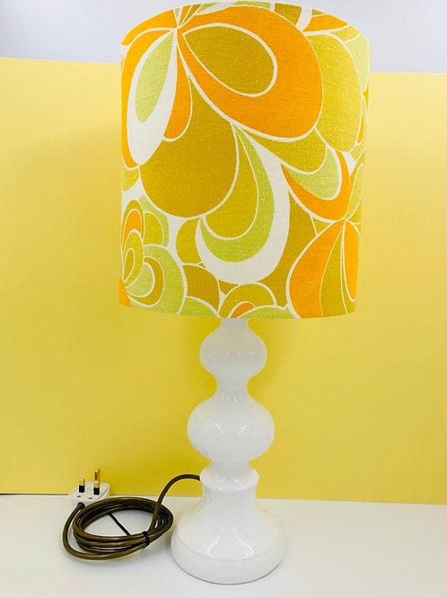 Vintage Ceramic Lamp & Genia Sapper Lampshade