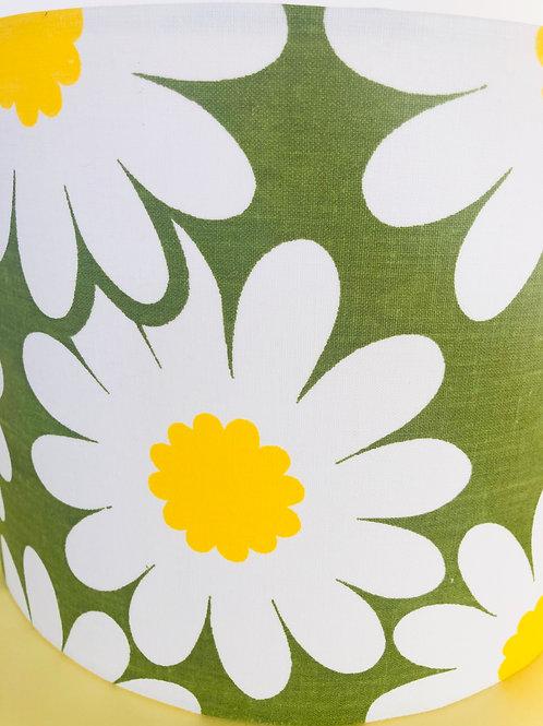 70s Fabric Lampshade 25cm