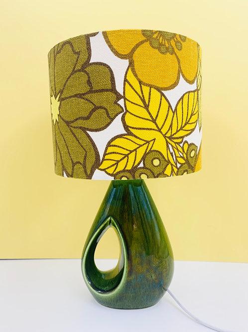 Vintage 1970s Holkham Pottery Lamp & Shade