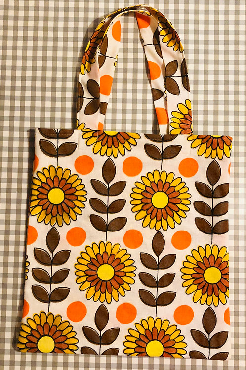 60's Fabric Tote Bag