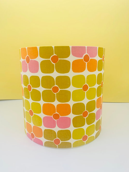 Vintage Fabric Lampshade 25cm