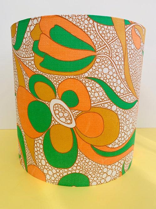 70s Fabric Lampshade