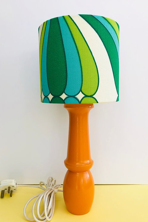 Painted lamp base & retro shade