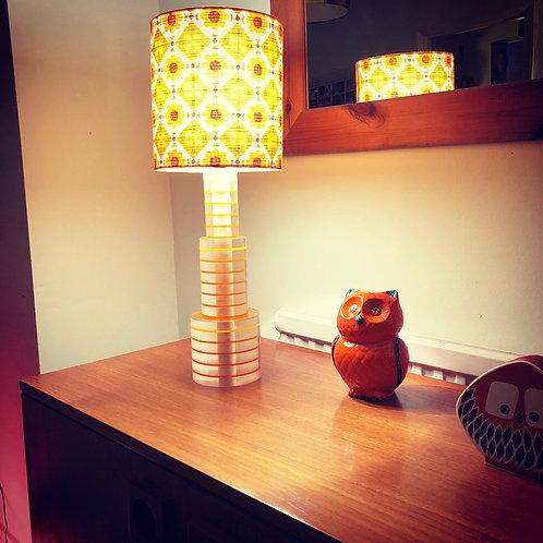 1970's Perspex Lamp + Shade