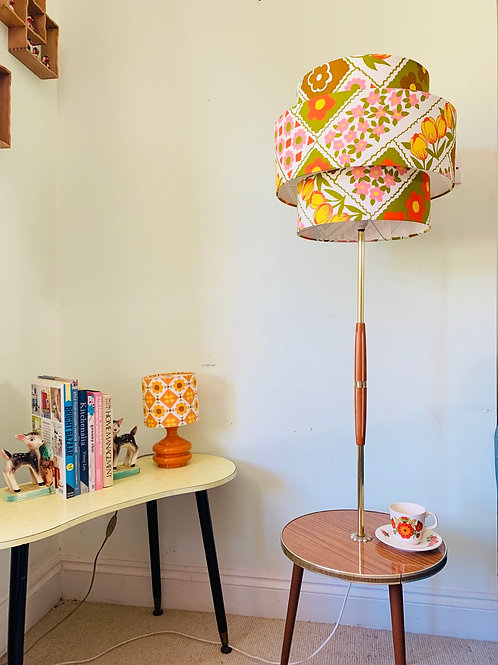Vintage Floor Standing Table Lamp & Shade