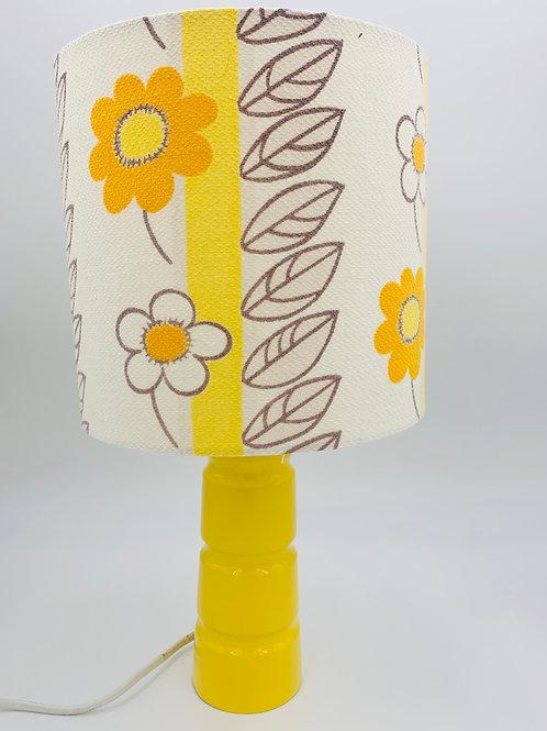 Vintage Yellow Lamp & Shade
