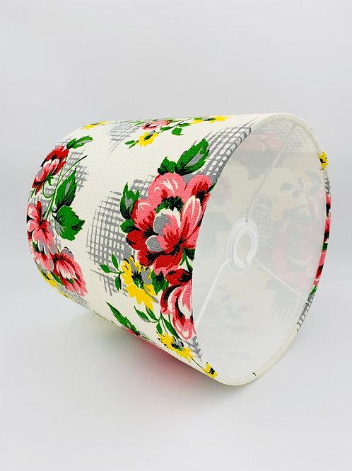 1950s Fabric Lampshade 25cm