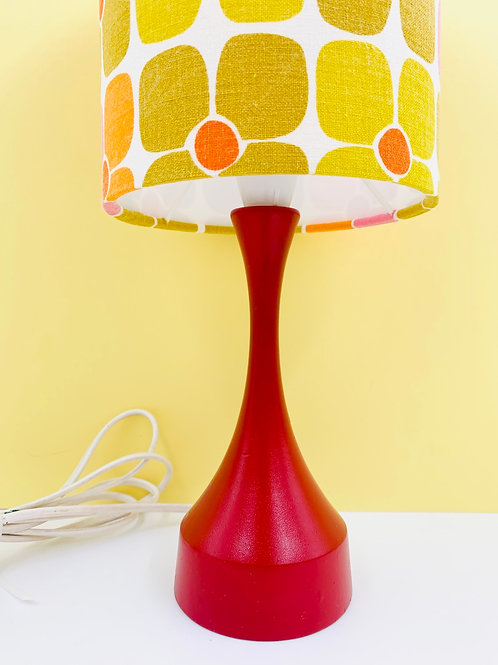 Vintage Wooden Lamp & Shade