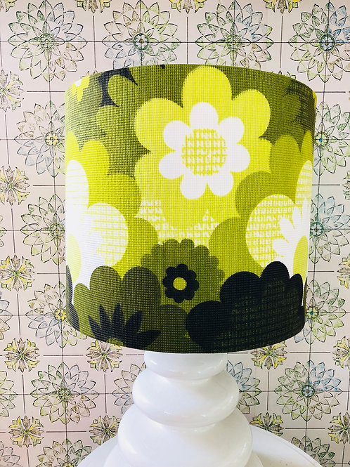 60's fabric lampshade