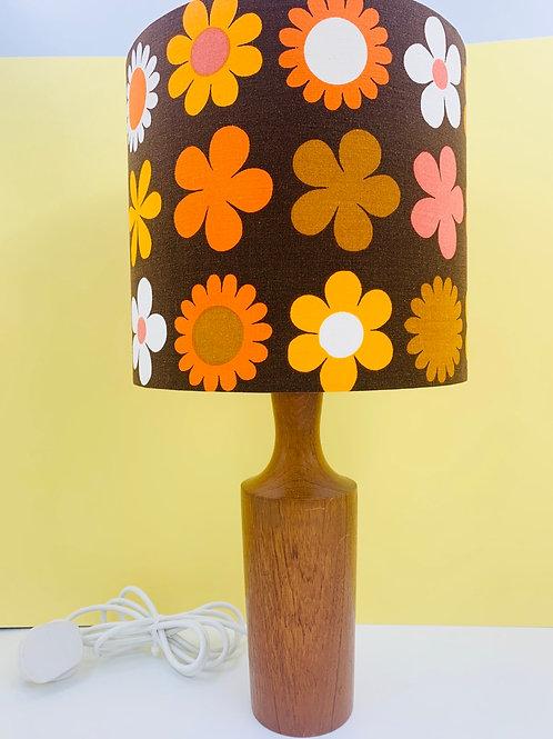 Vintage Teak Lamp & Genia Sapper Shade