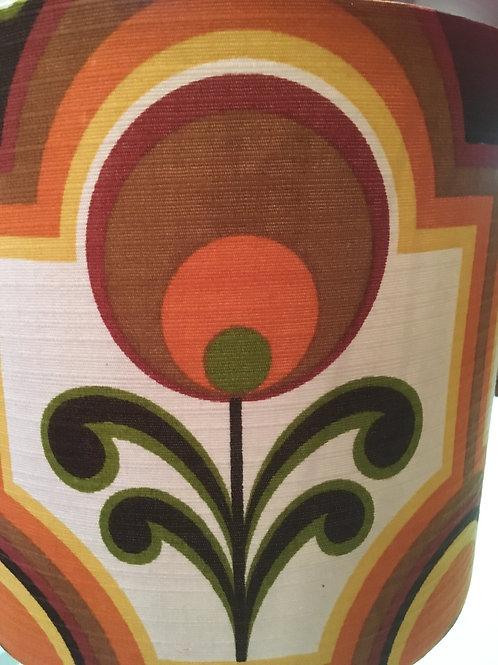 70's Fabric lampshade 25cm