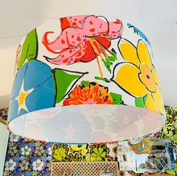 🧡 Two super HUGE 60cm lampshades made t
