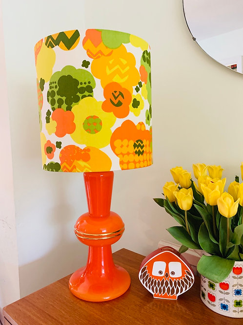 Retro Ceramic Lamp & Shade
