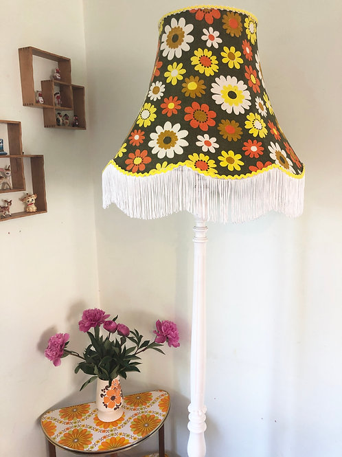 60s Barkcloth Lampshade