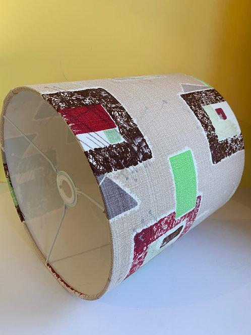 50s Barkcloth Lampshade 30cm