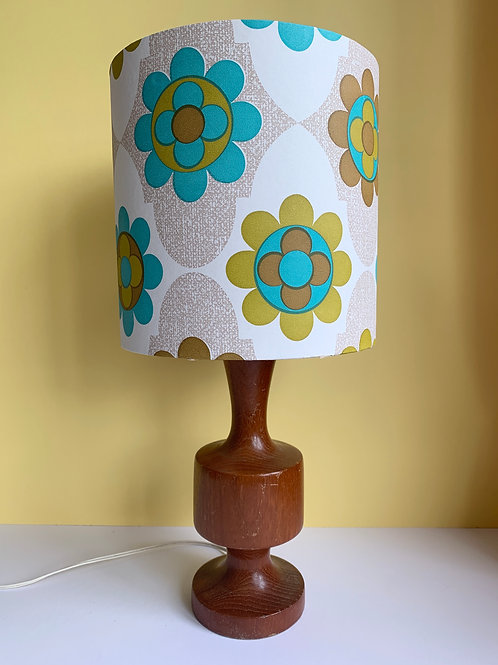 Retro Teak Lamp