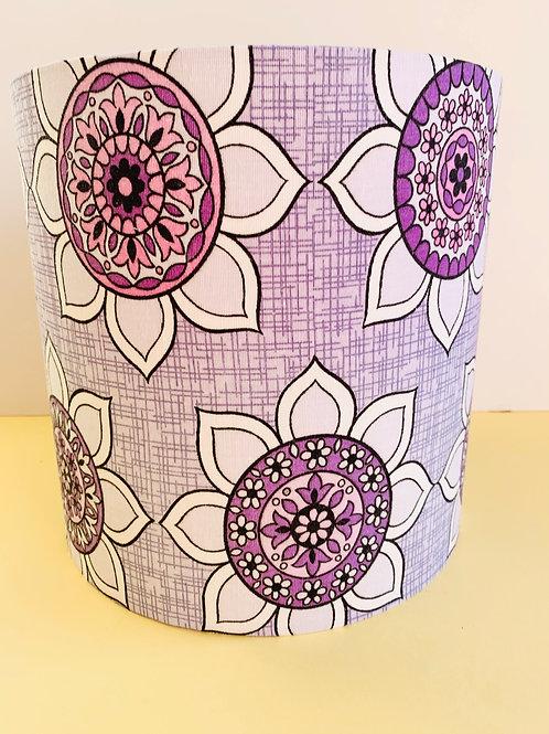 1960s Fabric Lampshade 25cm