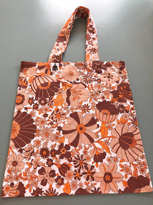 French 70's fabric tote