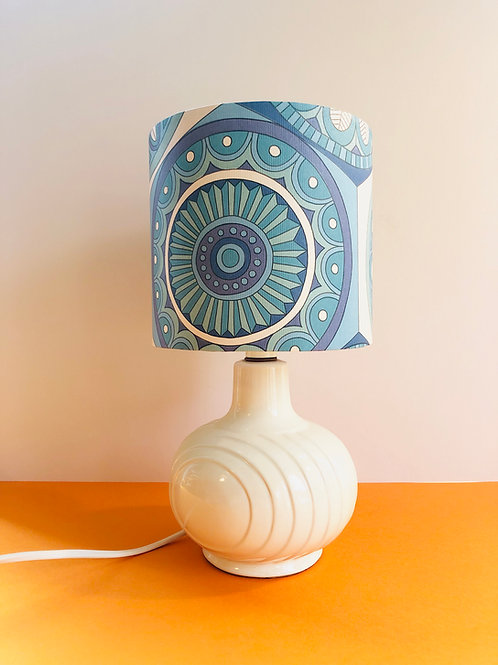 Vintage Wallpaper Shade & Lamp