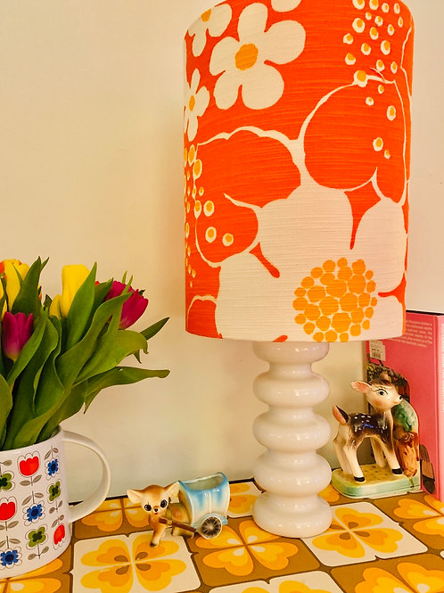 Doulton Lamp & Retro Lampshade