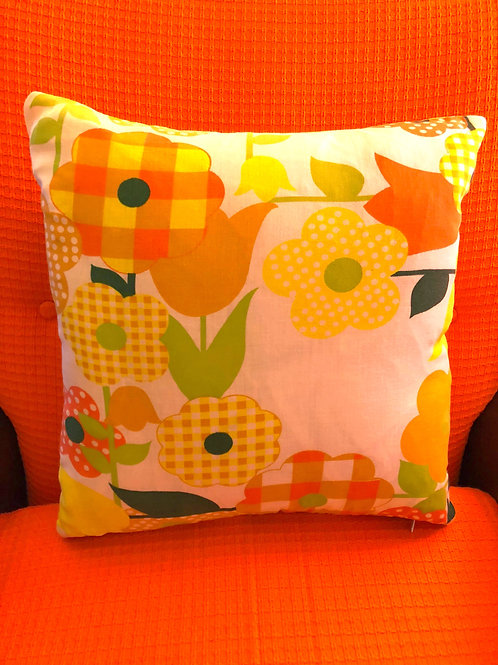 70's fabric cushion