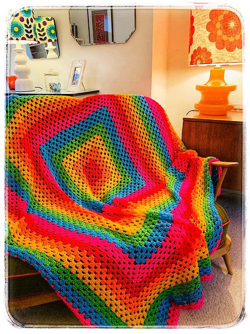 Rainbow Crochet Throw
