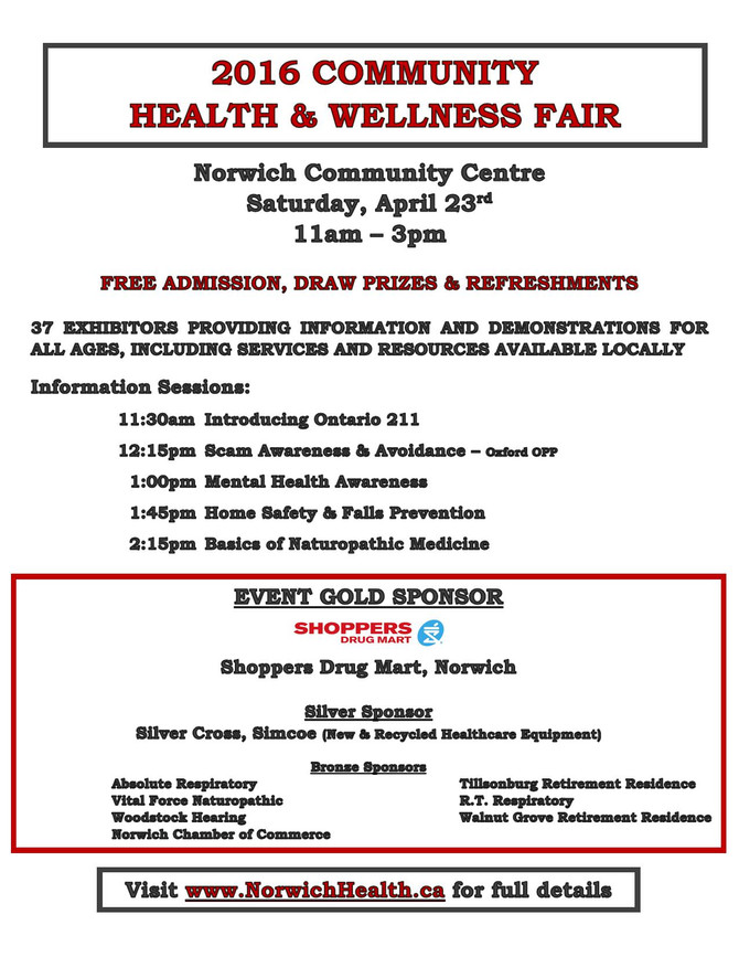 Come join me at the Norwich Health & Wellness Fair