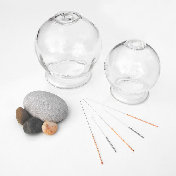 Cupping creates a relaxing tension which helps to stimulate qi and blood flow, and remove toxins