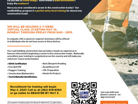 WRTP/BIG STEP is holding a 7 week virtual class starting May 10th!