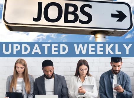 Week of 10/26/2020 | Job Center of Wisconsin (JCW) job postings. Kenosha, Racine & Walworth Counties