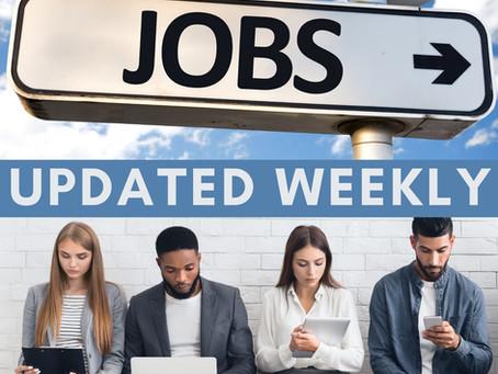 Week of 1/25/2021 | Job Center of Wisconsin (JCW) job postings. Kenosha, Racine & Walworth Counties