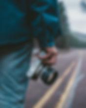 Fotograf auf Straße