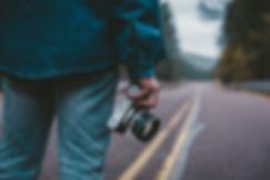 道路上の写真家