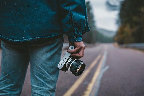 Fotograaf op de weg
